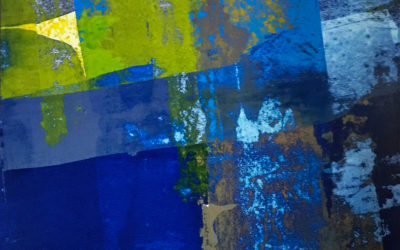 Residue Painting: Blue