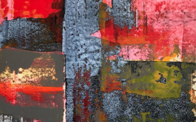 Residue Painting: Red & Black