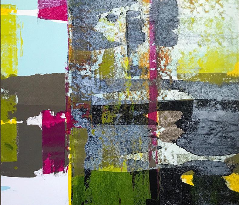 Residue Painting: Brown & Teal