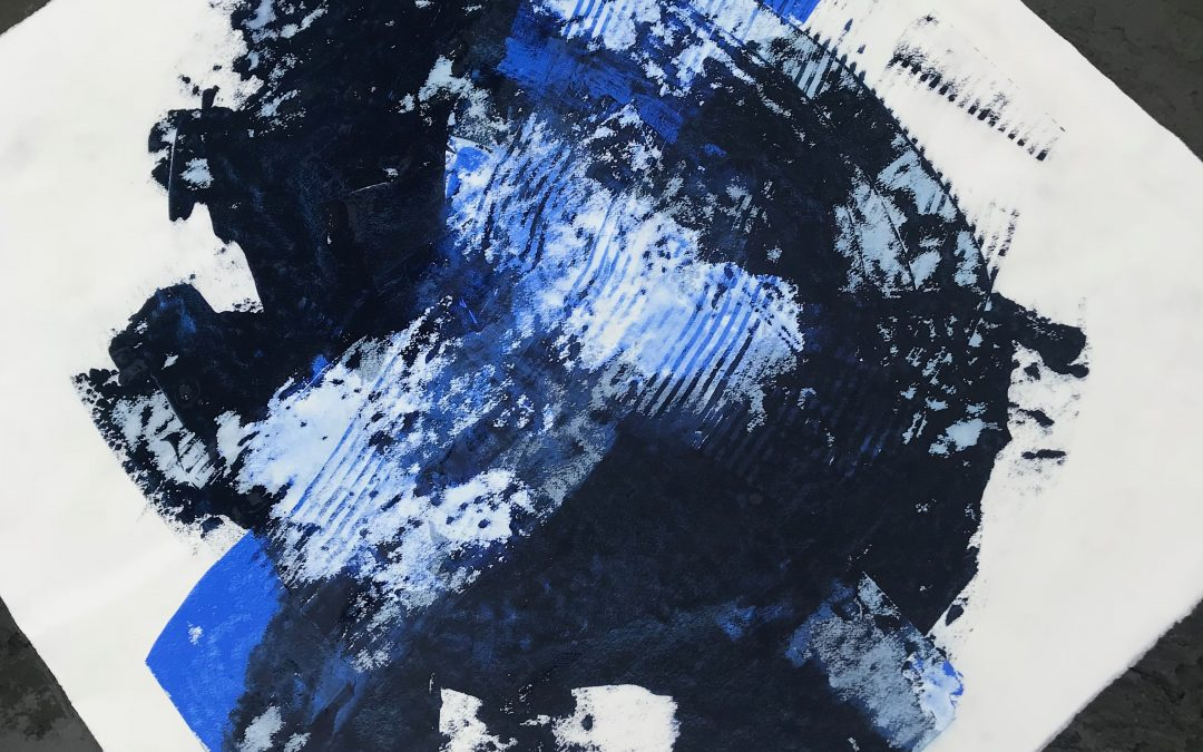 Residue Painting: BlueLines